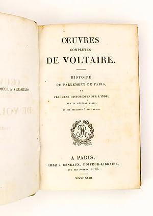 Histoire du Parlement de Paris et Fragmens historiques sur l'Inde , sur le Géné...
