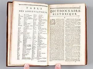 Dictionnaire historique-portatif contenant l'Histoire (3 Tomes - Complet) Dictionnaire ...