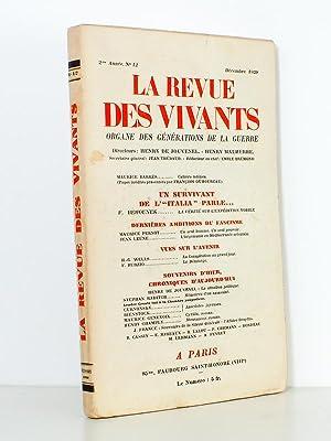 La Revue des Vivants , Organe des générations de la guerre , 2me année N° ...