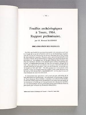 Bulletin Trimestriel de la Société Archéologique de Touraine , T. XL [ 40 ] , ...
