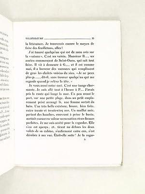 Villégiature suivi de Un Livre sur Paris. [ Edition originale ]: BOISSARD, Maurice