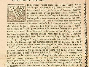 Ordonnance faite à Oyrières le 10 novembre 1773, concernant les communautés de...