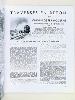 Traverses en béton et chemin de fer moderne. Conférence faite le 5 novembre 1952: ...