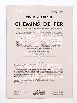 Revue Générale des Chemins de Fer. (Année 1946 - Soixante-Cinquième Ann...