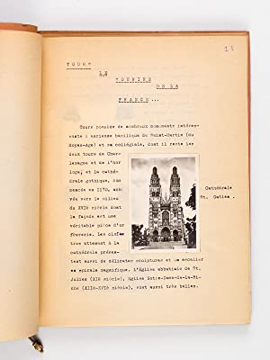 Tapuscrit sur la Touraine : Histoire, tourisme, folklore, chansons.: Anonyme