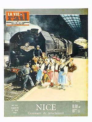 La Vie du Rail [ lot de 12 numéros avec des articles relatifs aux chemins de fer vers Nice ...