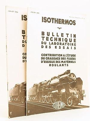 Isothermos. Bulletin technique du laboratoire des Essais. Contribution à l'étude...