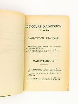 Recueil des sujets de compositions donnés au concours d'admission dans le cycle sup&...