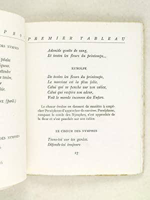 Perséphone [ Edition originale ]: GIDE, André