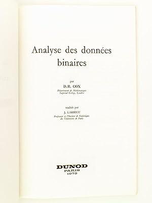 Analyse des données binaires: COX, David Roxbee ; LARRIEU, Jean (trad.)