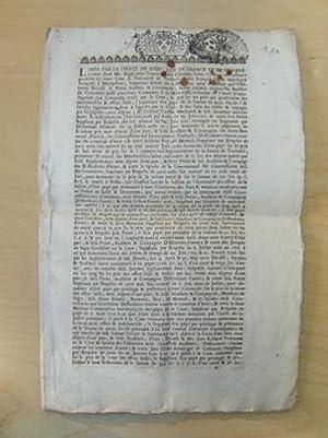 Arrêt du Parlement de Toulouse 16 septembre 1719 : procès entre François Perier...