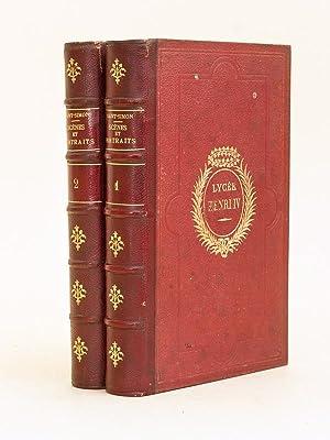 Scènes et Portraits choisis dans les Mémoires authentiques du Duc de Saint-Simon (2 ...