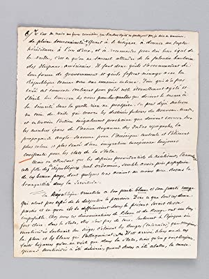 Les Républiques de La Plata et le Brésil [ Manuscrit autographe signé de l&#...
