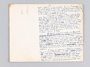 Manuscrit autographe d'un article consacré à Fulton [ Texte d'un chapitre ...