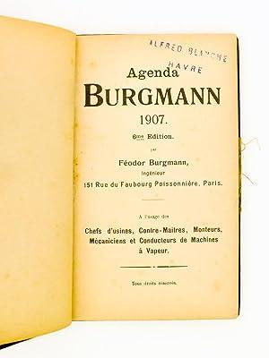 Agenda Burgmann 1907 , 6e édition, par Féodor Burgmann, Ingénieur, À l&...