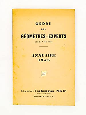 Annuaire 1956: Ordre des G�om�tres-Experts