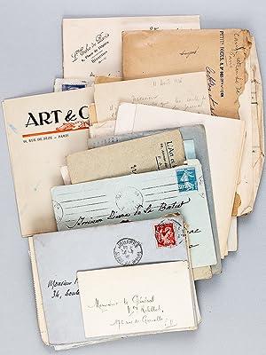 Lot de courriers d'intérêt littéraire dont nombreuses lettres autographes ...