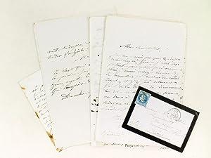 Lot de 83 lettres autographes signées adressées par Mélanie Dentu née ...