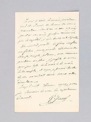 3 Lettres autographes signées sur papier à en-tête de l'Imprimerie Georges...