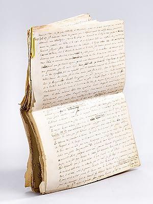 """Partie du Manuscrit des """"Voyages et Aventures: FERRIER, Joseph Pierre"""