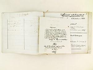 Manuscrit : Monita Secreta Societatis Jesu. Notes sur les Similitudes et 1er Cahier : diffé...