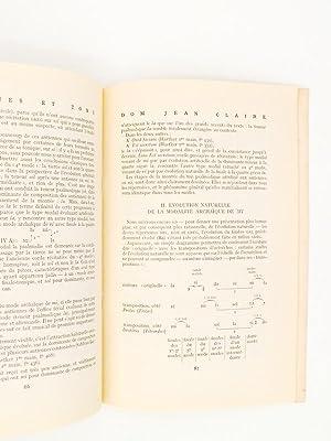 Lot de 4 numéros de 1963 , Revue Grégorienne ) N° 1-2 Psalmodie responsoriale ; N...