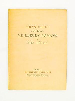 Grand prix des douze meilleurs romans du XIXe siècle ( plaquette de présentation de ...