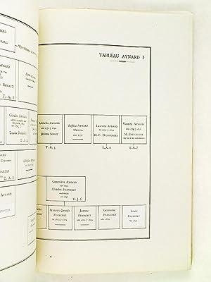 Tableaux généalogiques des familles Aynard et Jordan-Dugas avec notes pré...