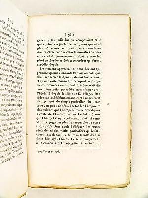 Mémoire de D. Miguel Joseph de Azanza et D. Gonzalo O-Farrill ; et Exposé des faits ...