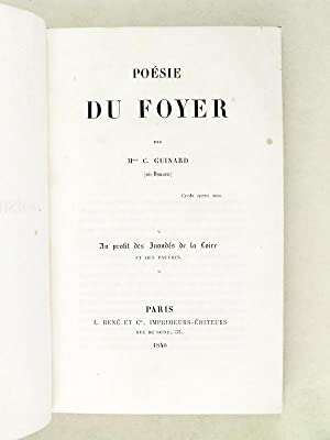 Poésie du Foyer. [ Edition originale ]: GUINARD (née DEMANTE), Mme C