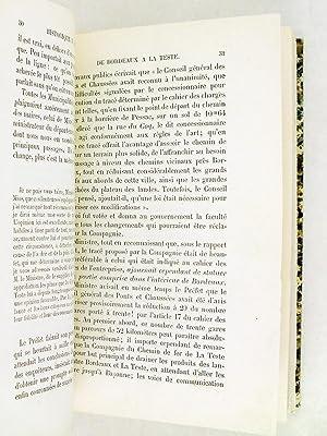 Historique du Chemin de Fer de Bordeaux à La Teste et à Arcachon. Cinquantenaire de l...