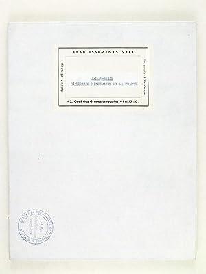 Carte des Richesses Minérales de la France établie par la Direction des Mines (Bureau...