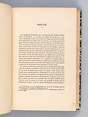 Histoire de l'Abbaye Sainte-Croix de Bordeaux [ Edition originale ]: CHAULIAC, A.