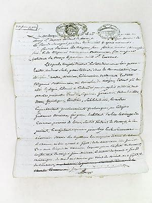 Lot d'archives relatives à l'arrondissement de Bourg-sur-Gironde [ Plus de 150 pi&...