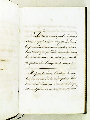 Sentiments Religieux [ Suivi de : ] Résolutions de Zénaïde Clary [ Manuscrit ...