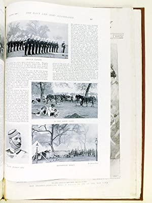 4 Reviews dated July 1898 binded together, dealing with the Queen's visit to Aldershot. With 2...