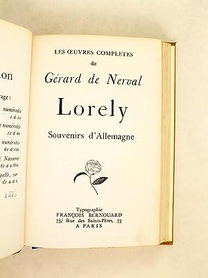 Lorely. Souvenirs d'Allemagne: NERVAL, Gérard de ; [ GOETHE ]