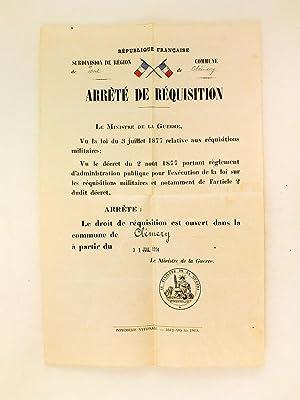 """Arrêté de Réquisition pour la commune de Clémery : """"Le Ministre de ..."""
