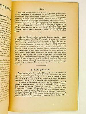 Les Cahiers du Musée Social 1943 : Les Institutions sociales devant les problèmes ...