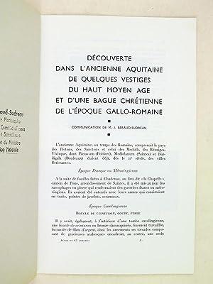 Actes du 87e Congrès National des Sociétés Savantes. Poitiers 1962 Section d&#...