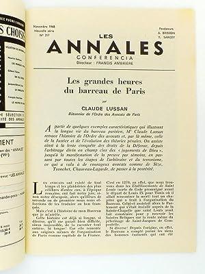 Les Annales, revue mensuelle des lettres françaises - Année 1968 ( année compl...