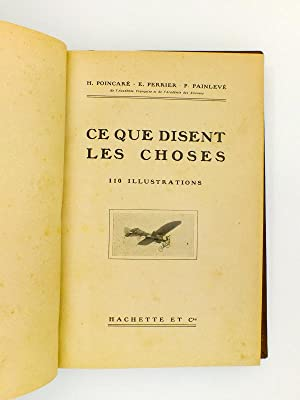 Deux livres reliés en un seul vol.) Ce que disent les choses ; Ce que disent les Aïeux:...