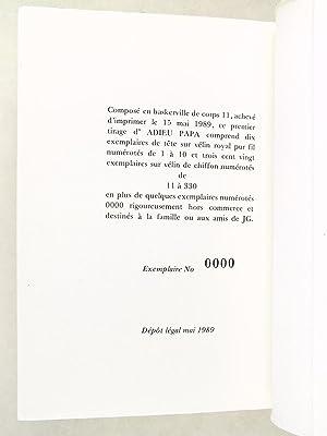 Adieu Papa [ Edition originale - Livre dédicacé par l'auteur ]: GUENOT, Jean