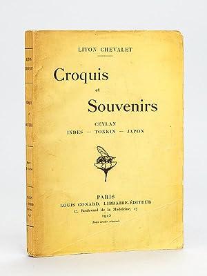 Croquis et Souvenirs. Ceylan - Indes -: LITON CHEVALET