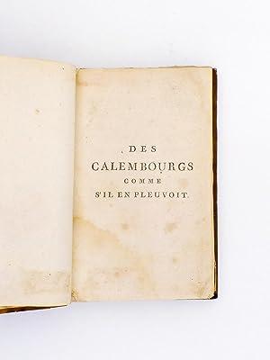 Des Calembourgs comme s'il en pleuvoit, Contenant un déluge de traits d'esprit, d&...