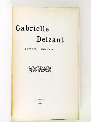 Gabrielle Delzant. Lettres - Souvenirs [ Edition originale - Livre dédicacé par l&#...