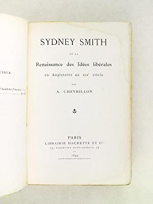 Sidney Smith et la Renaissance des idées libérales en Angleterre au XIXe siè...