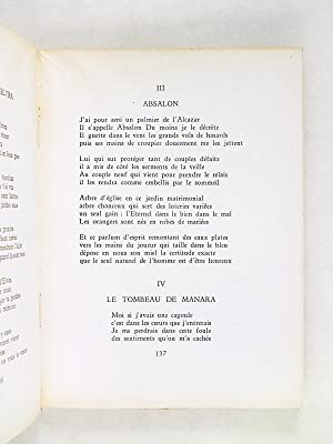 Poésie choisie [ Edition originale - Livre dédicacé par l'auteur ]: ...