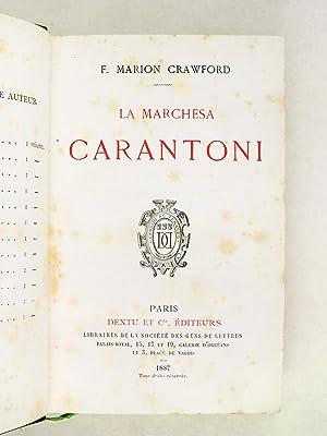 La Marchesa Carantoni: CRAWFORD, Francis Marion