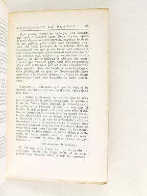 Voyage dans la République de Platon. Chants d'amour inspirés du Banquet. [ ...